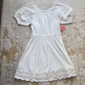 White skater Kate Spade dress, size L
